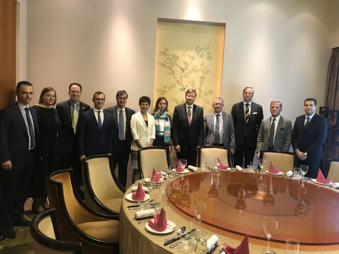 European Commission Vice President and New European Ambassador Meet with the Chamber's Financial Services Working Groups